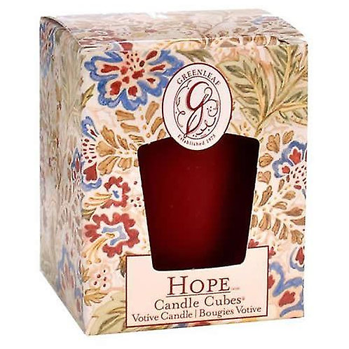 Greenleaf Hope Boxed Votive Candle