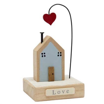 Wooden Heart and Home Decoration