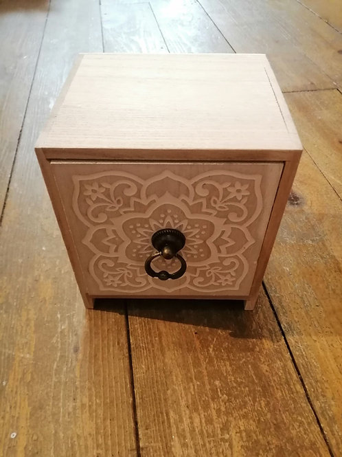 One Drawer Cabinet with Patterned Front