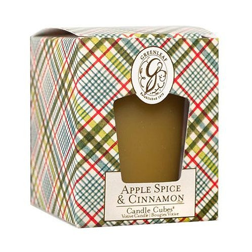 Greenleaf Apple and Spice Boxed Votive Candle