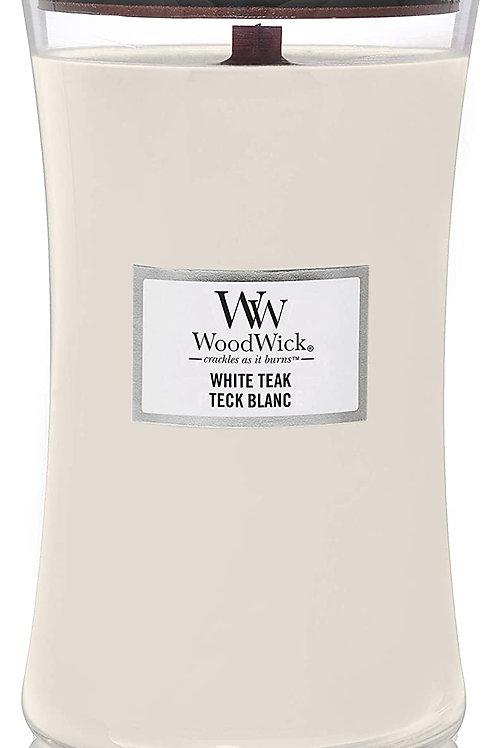 WoodWick White Teak Large Trilogy Candle