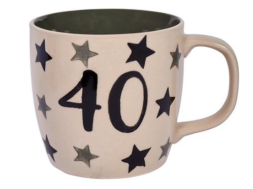 """40"" Stars Mug"