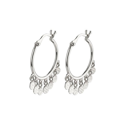 Pilgrim Earrings - Panna - Silver Plated