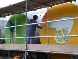 Painted Oils Tanks
