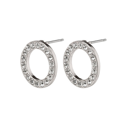 Pilgrim Earrings - Victoria - Silver Plated - Crystal