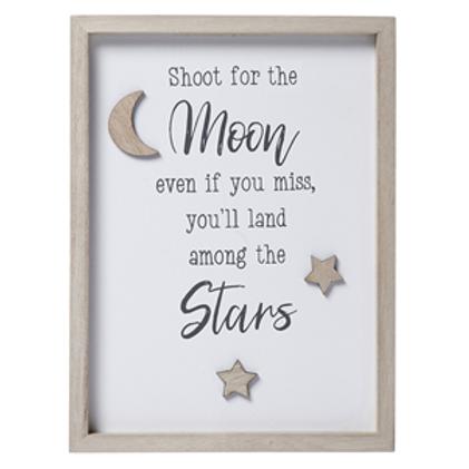 "Framed ""Shoot for the Moon.."" Sign"