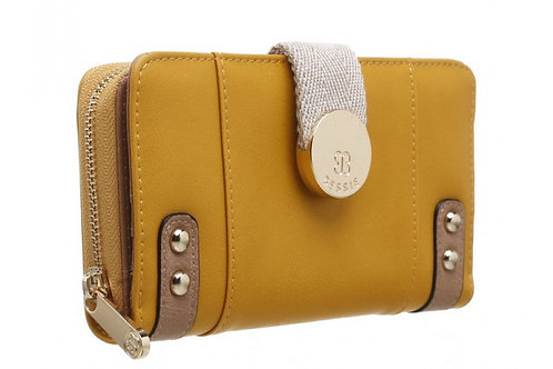 Bessie PU Purse with Canvas Magnetic Strap