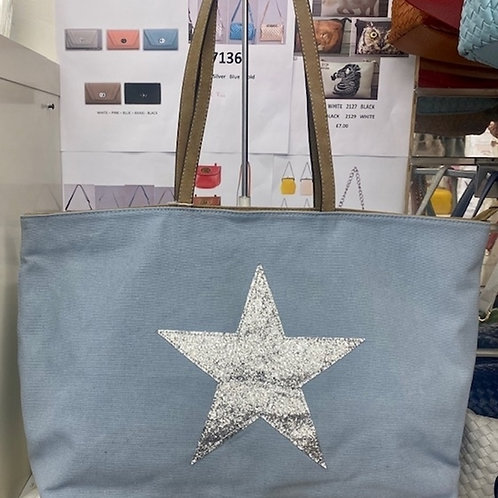 Blue Large Star Tote for Outdoors