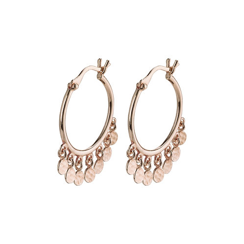 Pilgrim Earrings - Panna - Rose Gold Plated