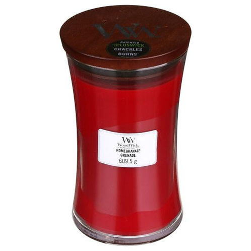WoodWick Pomegranate and Grenade Large Hourglass Candle