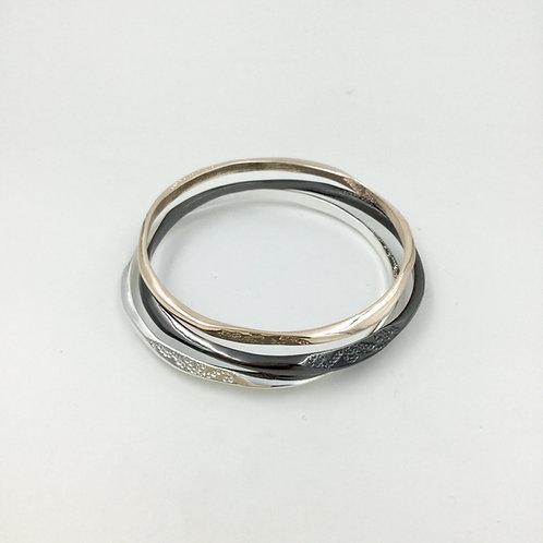 Triple Gold, Silver Bracelets