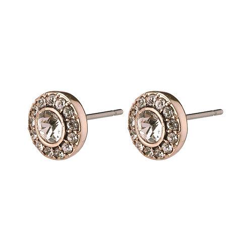 Pilgrim Earrings - Clementine - Rose Gold Plated