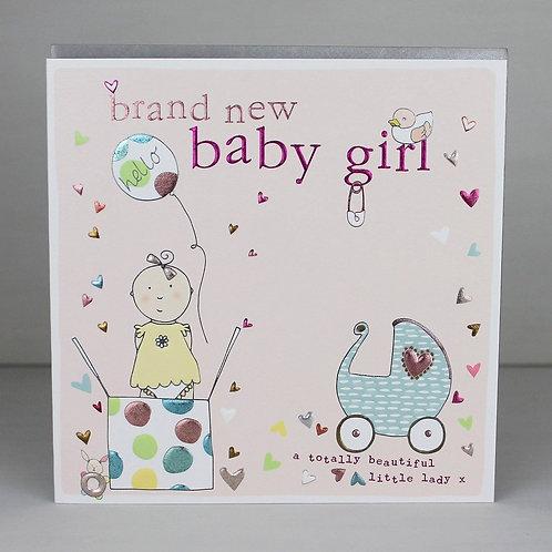 """Brand New Baby Girl"" Card"