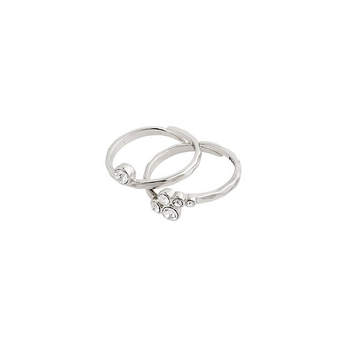 Pilgrim Ring - Fran - Silver Plated - Crystal