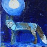 Moon and Fox, oil, 20x20cm, 2021.jpeg