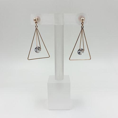 Triangle Diamante Drop Earrings