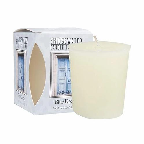 Bridgewater Blue Door Boxed Votive Candle