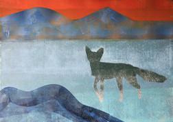 Shaman journey, monoprint, 42x52cm print