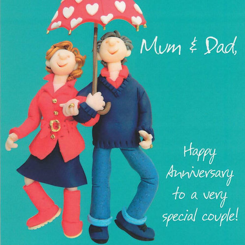 """Mum & Dad Happy Anniversary"" Card"