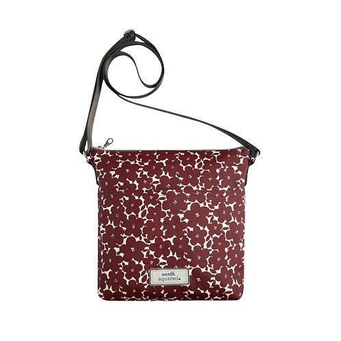 Red Flower Oil Cloth Messenger Bag