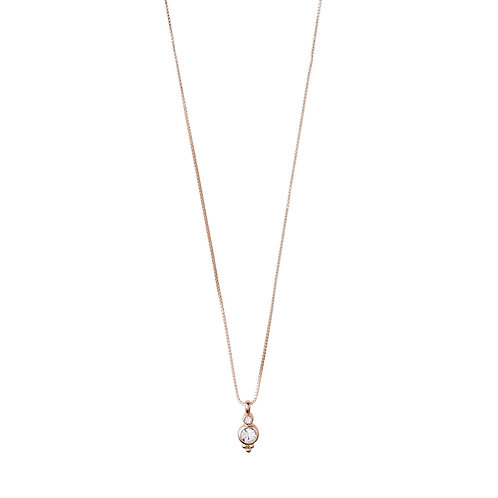 Pilgrim Necklace Necklace - Gabrielle - Rose Gold Plated - Crystal