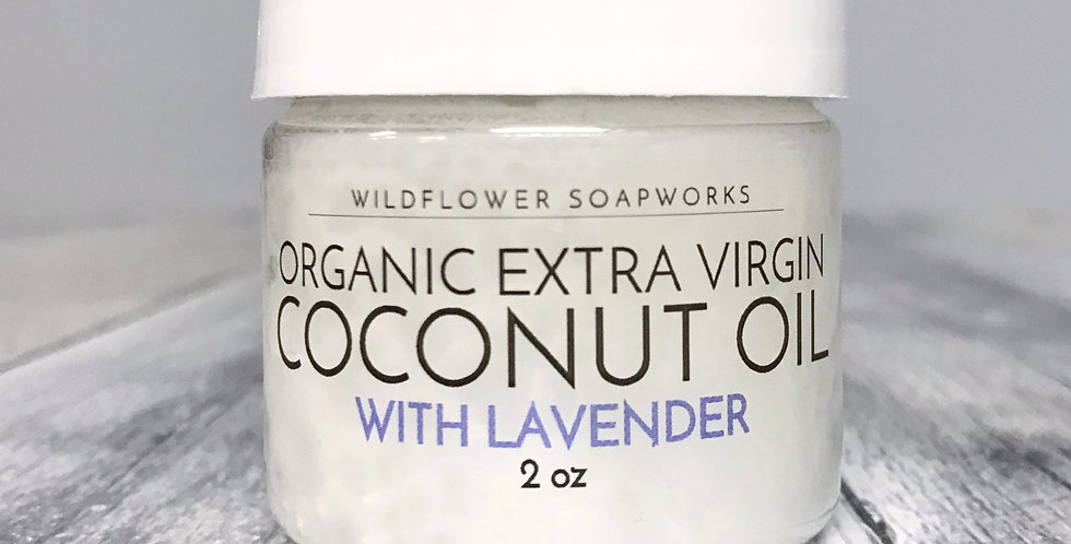Organic Extra Virgin Coconut Oil with Lavender (2.oz)