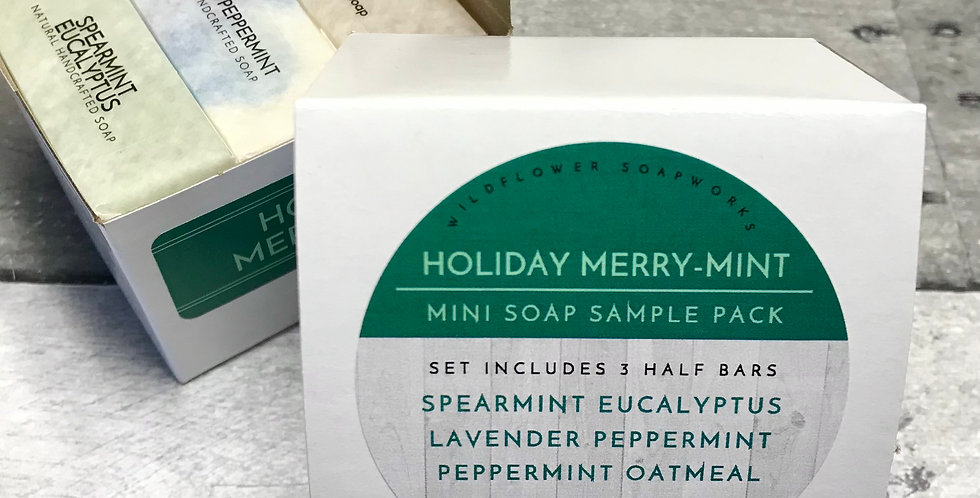 Holiday Merry-Mint Mini Soap Sample Pack
