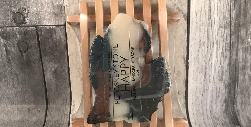 Petoskey Stone Happy- Michigan Soap Set