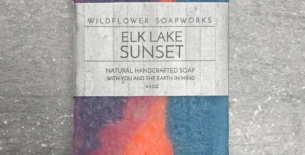 Elk Lake Sunset Soap Bar