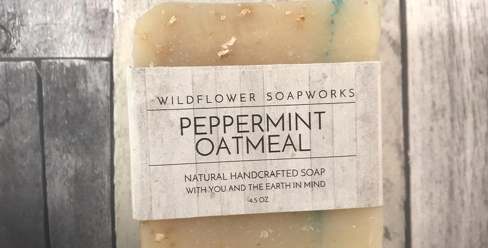 Peppermint Oatmeal Soap Bar