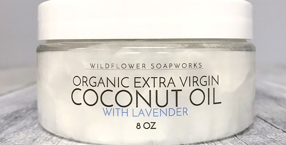 Organic Extra Virgin Coconut Oil with Lavender (8.oz)