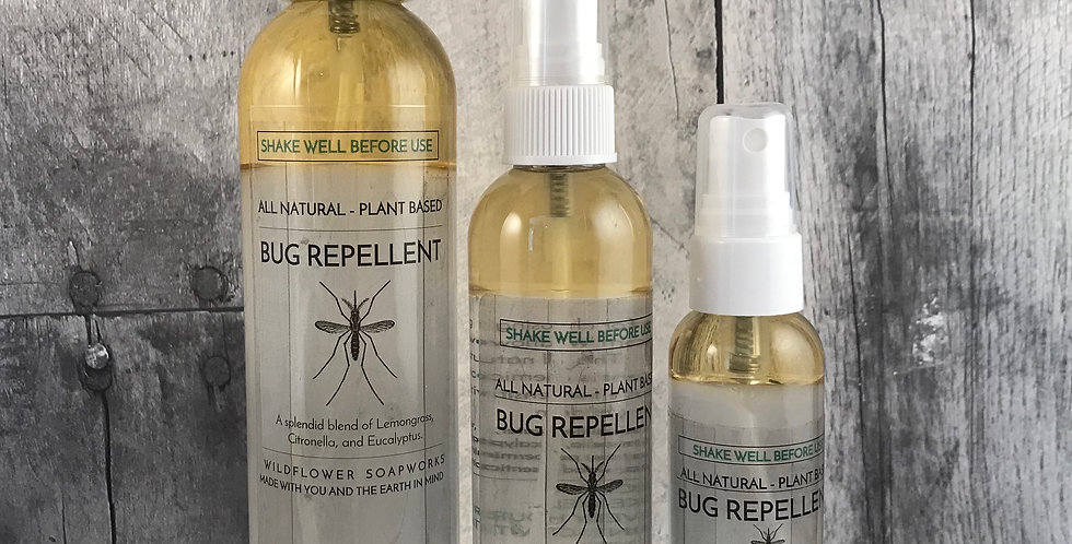 Bug Repellent All Natural Ingredients (Small 2oz)