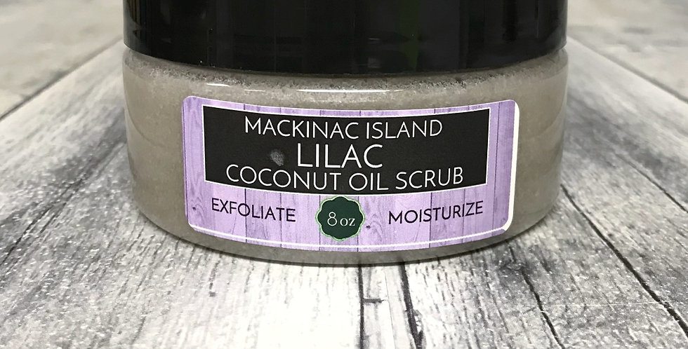 Coconut Oil Scrub - Mackinac Island Lilac