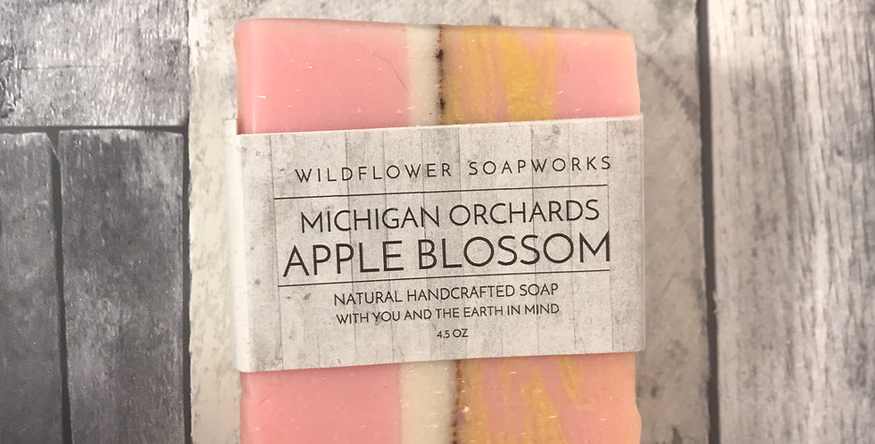 Michigan Orchards Apple Blossom Soap Bar