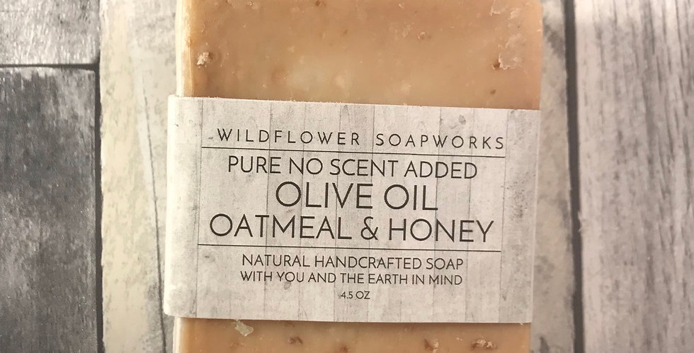Oatmeal & Honey Pure Olive Oil Soap Bar