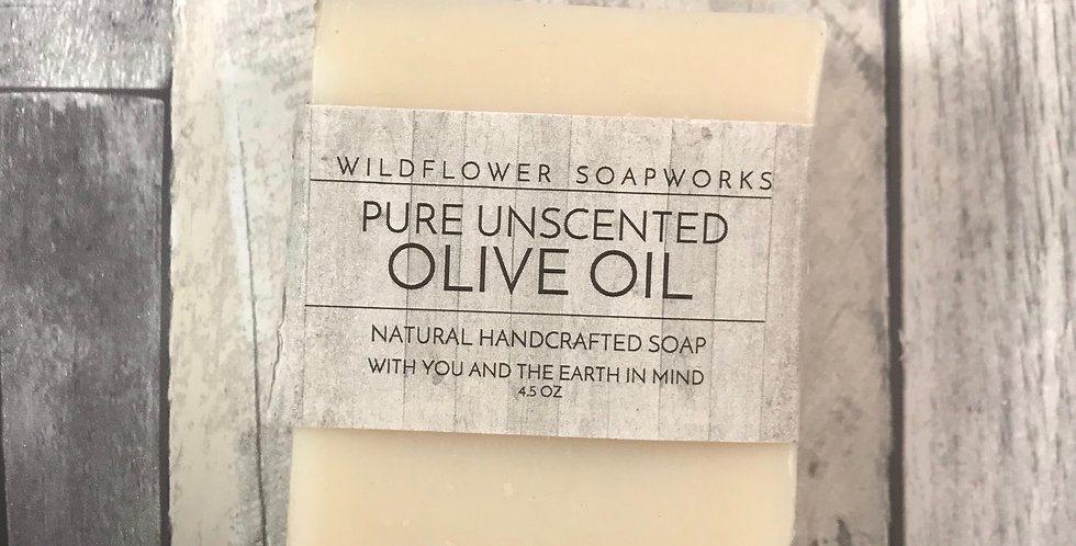 Unscented Pure Olive Oil Soap Bar