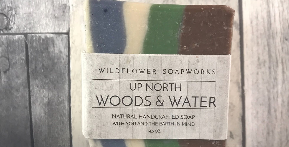 Northern Michigan Woods & Water Soap Bar
