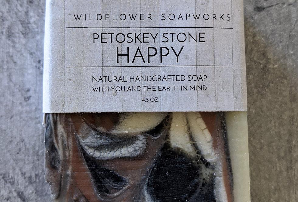 Petoskey Stone Happy Soap Bar