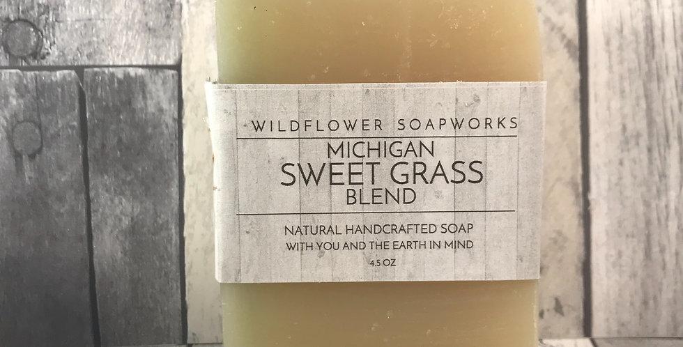 Michigan Native Sweet Grass Soap Bar