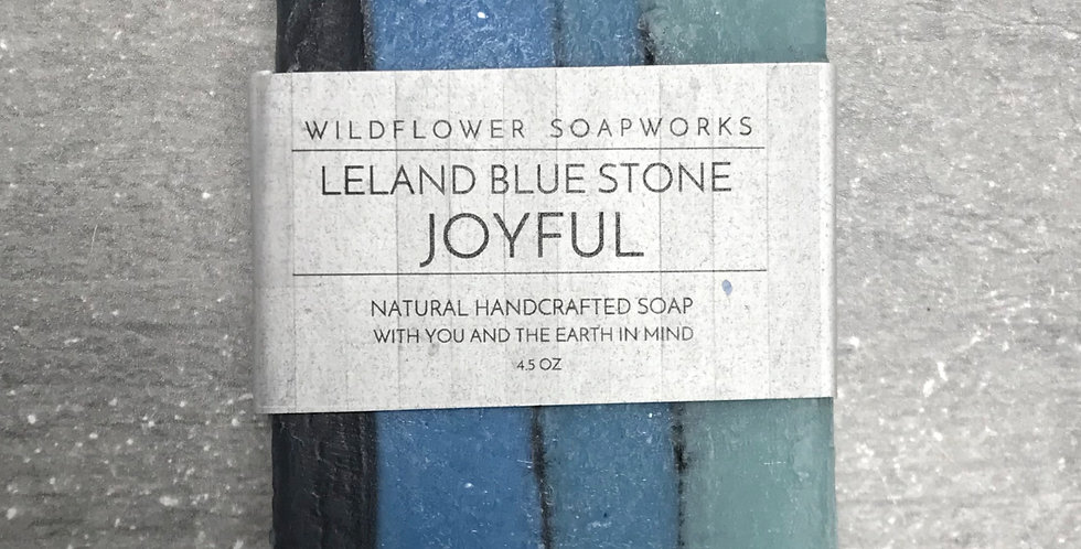 Leeland Blue Stone Joyful Soap Bar