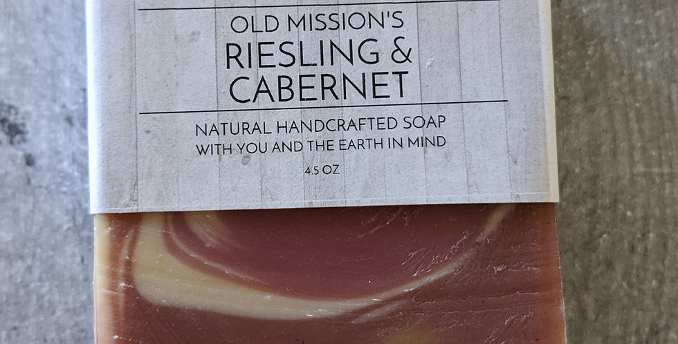 Old Mission's Riesling & Cabernet Soap Bar