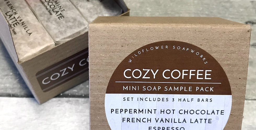 Cozy Coffee Mini Soap Sample Pack