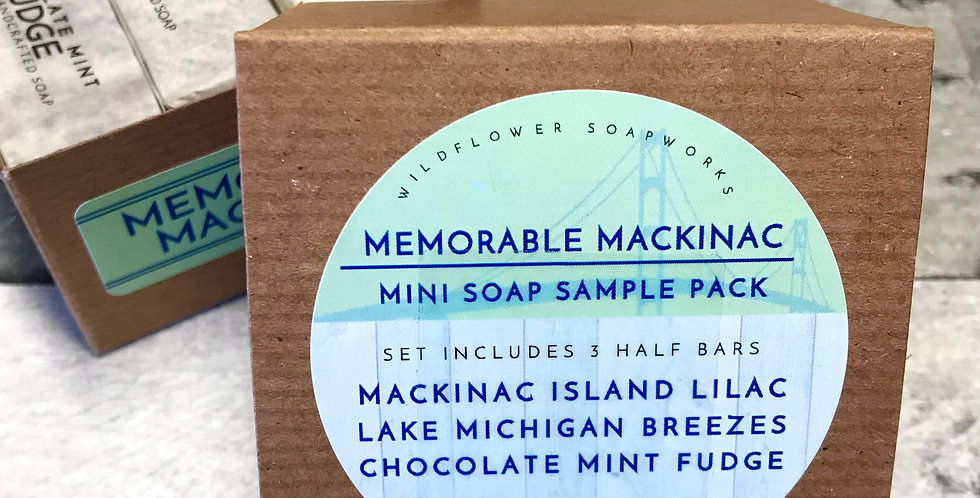 Memorable Mackinac Mini Soap Sample Pack