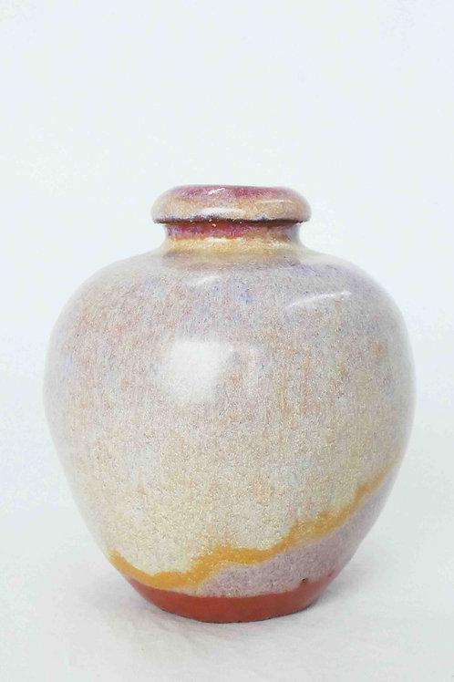 Vase perlmutt/rot