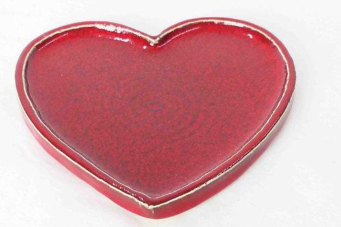 Untersetzer Herz rot