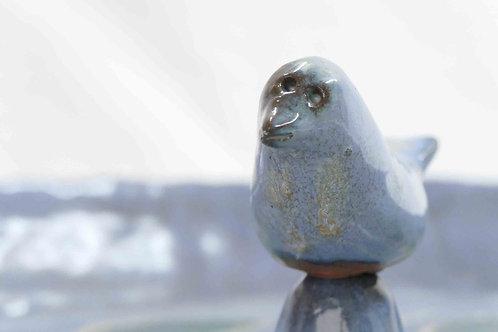 Vogeltränke blau