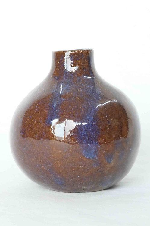 Vase braun/blau
