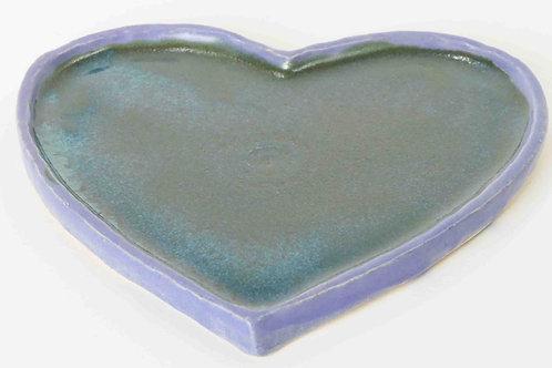 Untersetzer Herz grün/blau