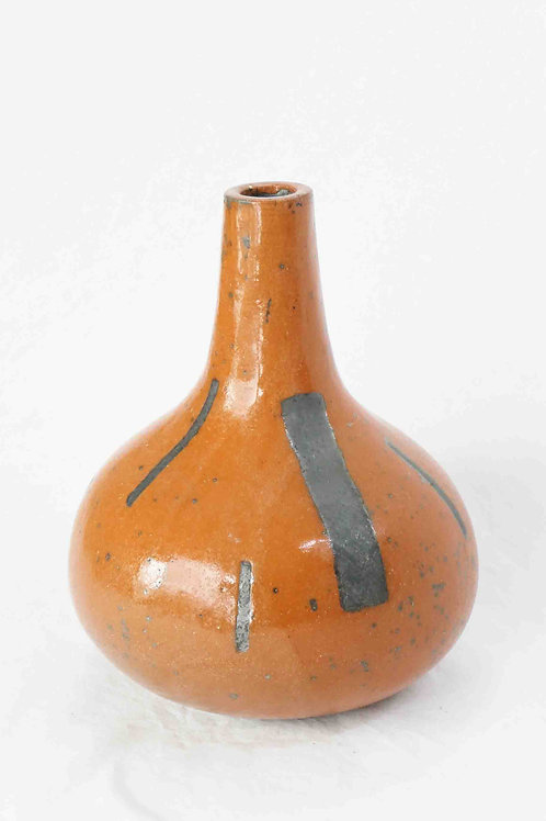 Vase rotbraun/schwarz