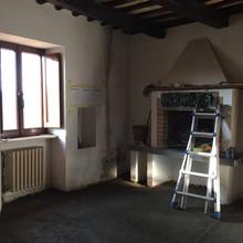 Renovation on the fireplace